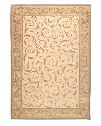 Roubini Tibetan Cashmere & Silk Luxury Hand-Knotted Rug, Multi, 5′ 5″ x 8′