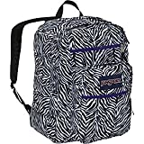 JanSport Big Student School Backpack (White/Black Cosmo Zebra/Primal Purple)