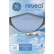 GE Lighting 42361 Reveal Decorative Globe Light Bulb-60W G25 WHT REVEAL BULB