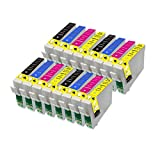 16 Perfect Print Compatible T1816 Ink Cartridges for Epson Expression Home XP102 XP202 XP212 XP215 XP205 XP30 XP302 XP305 XP312 XP315 XP402 XP412 XP415 XP405 XP405WH, 4x T1811, 4x T1812, 4x T1813 and 4x T1814