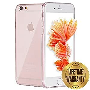 HT 3308112 Flexible TPU Gel Rubber Soft Skin Silicone Protective Case and Stylus Pen for iPhone 6S - Clear