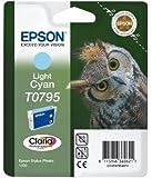 Epson Original T0795  Light Cyan Ink cartrdge for Stylus Photo 1400 (Owl)