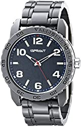 Sprout Men's ST/7007NVGY Navy Tree Bark Dial Grey Corn Resin Bracelet Watch