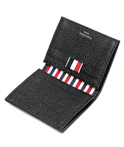 wiberlux-thom-browne-mens-stripe-accented-interior-real-leather-card-holder-wallet-one-size-black