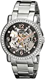 Stuhrling Original Women's 531L.111154 Classic Delphi Canterbury Automatic Skeleton Swarovski Crystal Accented Grey Dial Watch