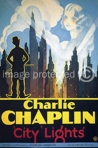 movie poster of Charlie Chaplin in City Lights
