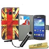Accessory Master Etui en cuir avec Stylet pour Samsung Galaxy Ace 3 S7272 Motif Drapeau Royaume-Uni Mill�sime