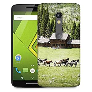 Snoogg Colorful Horses Designer Protective Phone Back Case Cover For Moto G 3rd Generation