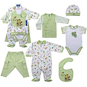 Hudson Baby 6-Piece Rainforest Layette Set