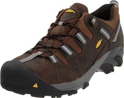 Keen Utility Men's Detroit Low ESD Steel Toe Work Boot,Dark Brown,7 D US