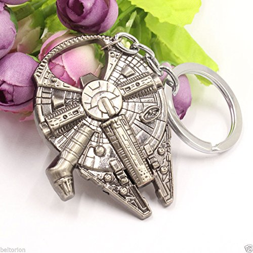 Star Wars Millennium Falcon Spacecraft Replica Key Chain Material Alloy High Quality Bottle Opener Keychain Keyring