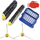 Smartide Kit for Irobot Roomba 585 595 600 610 620 630 650 660 Vacuum Cleaner Kit - Includes 2 Pcs Filter, 2pcs Side Brush, and 1 Pc Bristle Brush and Flexible Beater Brush, Cleaning Tool