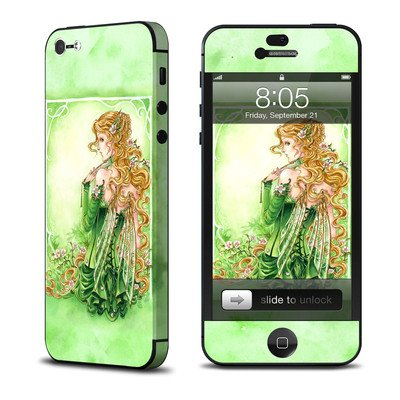 Apple iPhone 5用スキンシール 【Lady In Green】