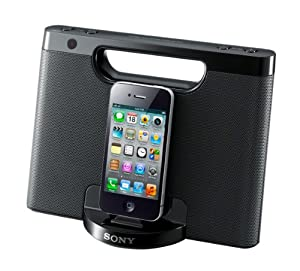 Sony RDPM7iPBLK Portable Speaker Dock for iPod/iPhone,  (Black)