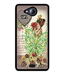 Fuson 2D Printed Girly Designer back case cover for Micromax Canvas Play Q355 - D4615