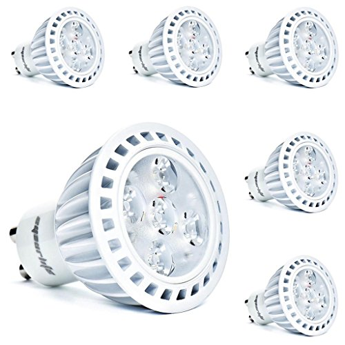 Eyourlife 6pcs 5w Dimmable Gu10 Cree LED Spot