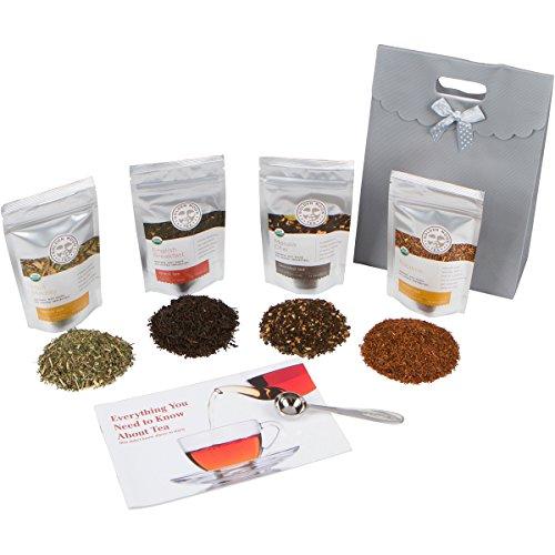 Golden Moon Loose Leaf Organic Herbal Tea Sampler Gift Set (48 Servings of Tea)