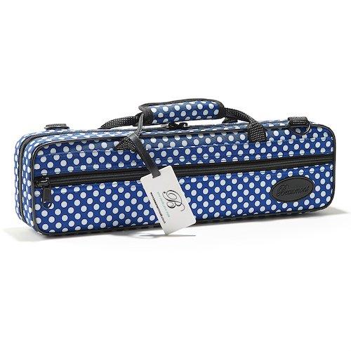 Beaumont tui pour fl te bleu pois caisses sacs for Housse flute traversiere