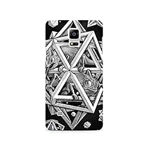 TAZindia Designer Printed Hard Back Case Mobile Cover For Samsung Galaxy Note 4