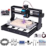 5 5 0 0mW CNC 3018 Pro Engraving Machine, GRBL Control 3 Axis Mini DIY CNC Router Kit with Offline Controller, Working Area 300x180x45mm, for Wood Plastic Acrylic PVC