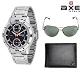 AXE style Combo of Watch, Wallet, Sunglass X0182CWWS