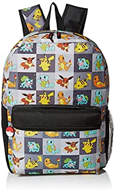 Pokemon Boys' Allover Print 17 Inch Backpack by FAB Starpoint Children's Apparel