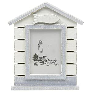 Sandy bay coastal style beach hut photograph frame 6 x 4 for Beach hut style