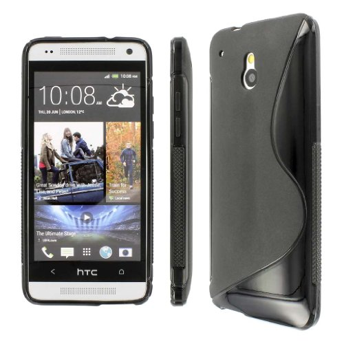 Mpero Collection Flexible S-Shape Black Case For Htc One Mini