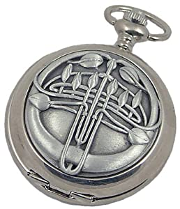 A E Williams 4897SK Mackintosh mens mechanical pocket watch with chain