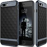 iPhone 7 Plus Case, Caseology [Parallax Series] Modern Slim Geometric Design [Black / Deep Blue] [Textured Grip] for Apple iPhone 7 Plus (2016)