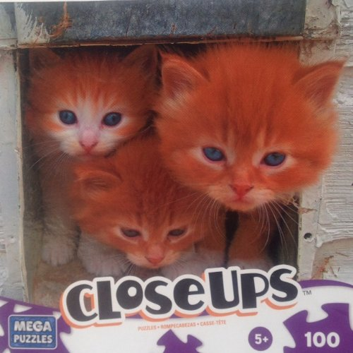 Three Musketeers Kittens Closeups 100pc. Puzzle