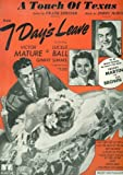 "A Touch of Texas, From The Motion Picture, ""7 Days Leave"" (Cover: Victor Mature, Ginny Simms, Freddy Martin)"