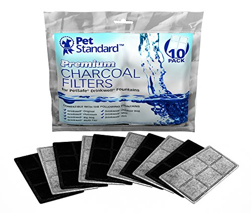 Premium Charcoal Filters for PetSafe Drinkwell Fountains, Pack of 10 (Pet Water Fountain Filters compare prices)