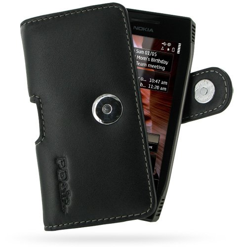 PDair P01 Black Leather Case for Nokia X7-00