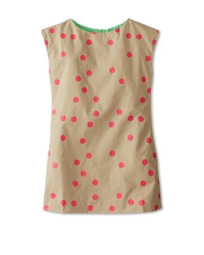 Joyfolie Girl's Allie Dot Dress  [Tan/Magenta]