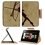 Luxlady Premium Amazon Kindle Fire HD 8.9 Flip Case Prehistoric representation of a warrior Digital illustration IMAGE 35766227 Pu Leather Card Holder Carrying
