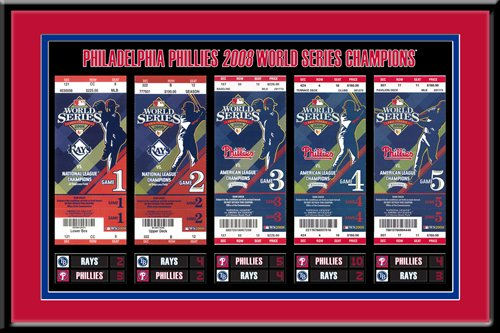 MLB Philadelphia Phillies 2008 World Series Tickets to History Framed Print at Amazon.com