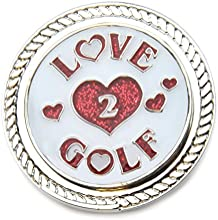 Navika KICKS CANDY Love 2 Golf Glitzy Ball Marker with Round Shoe Ornament