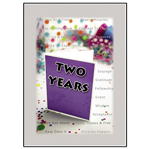 Popular anniversary cards for 2 year aa alcoholics anonymous 2 year aa alcoholics anonymous sober sobriety birthday anniversary greeting card bookmarktalkfo Choice Image