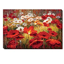 Meadow Poppies II by Lucas Santini Premium Gallery-Wrapped Canvas Giclee Art (Ready to Hang)