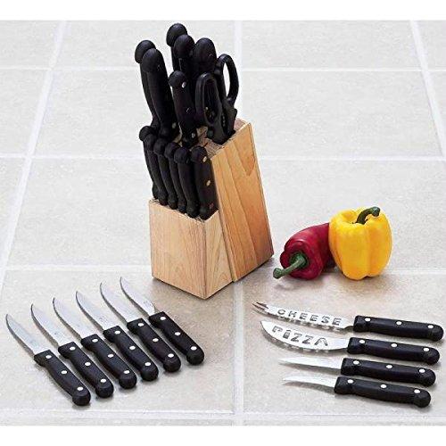 Diamond Cut 24pc Cutlery Set in Wood Block
