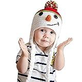 Atdoshop(TM) Fashion Cute Christmas Snowman Children Crochet Knit Inside Wool Cap