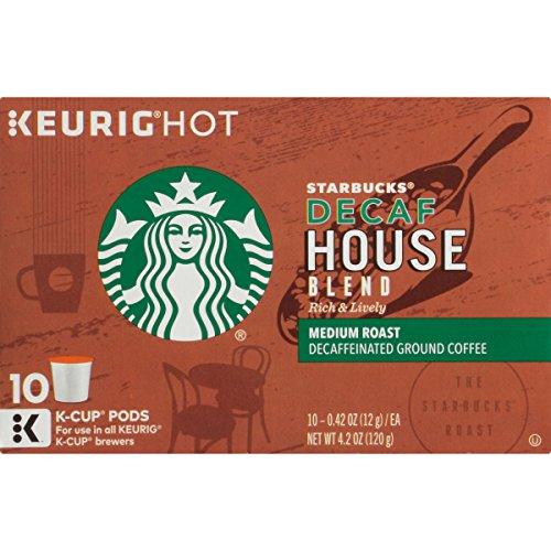 Starbucks Coffee Company Decaf House Blend K-Cups, 10 oz (Starbucks Decaf Dark Roast K Cups compare prices)