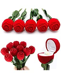 Red Rings For Girls Red Rose Box For Jewellery Gift, Engagement,Wedding Praposal Ring/Pendant Boxes For Jewellery...