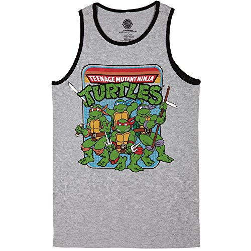 Teenage Mutant Ninja Turtles Group Image Adult Tank Top