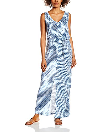 United Colors of Benetton Maxi-vestido Mujer azul Azul (Blue/White) 38