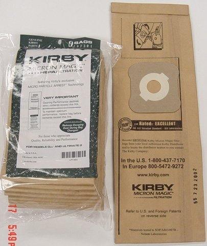 Kirby Part#197301 - Genuine Kirby HEPA Filtration Vacuum Bags Model G6 and Ultimate G, 18 Bags (Kirby Vacuum Bag 197301 compare prices)