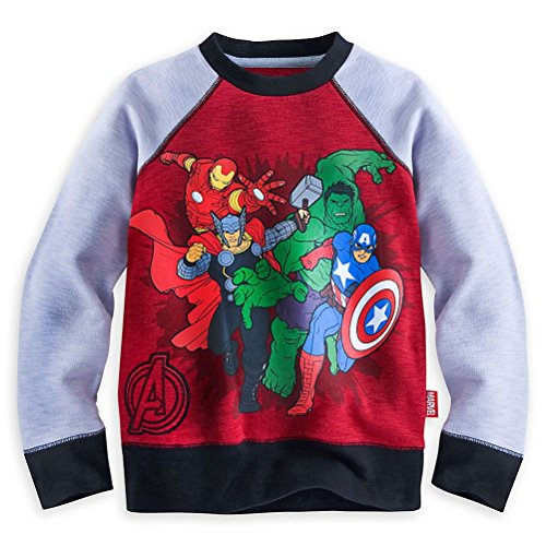 Disney Store Marvel Avengers Boy Long Sleeve Sweatshirt Shirt Size 5/6 (Marvel Sweatshirt Kids compare prices)