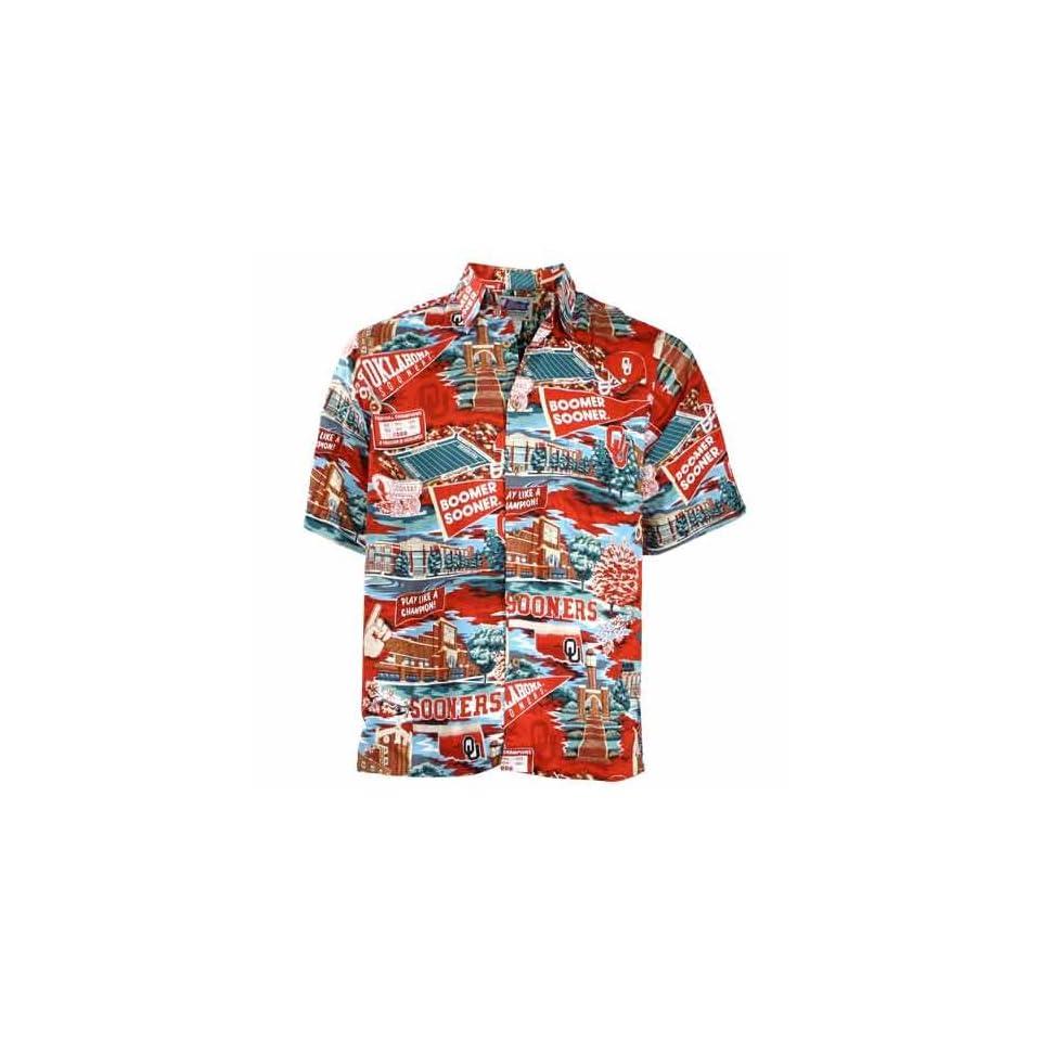 da6bf0e2a Reyn Spooner Oklahoma Sooners Hawaiian Shirt on PopScreen
