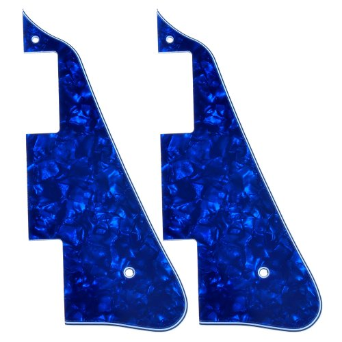 2Pcs New Blue Pearl Electric Guitar Pickguard For Gibson Les Paul Guitar Replacement